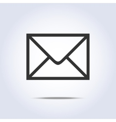 Envelope icon gray colors vector