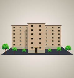 Building with trees vector
