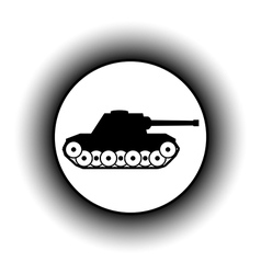 Panzer button vector