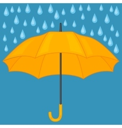 Abstract background with colored umbrella and rain vector