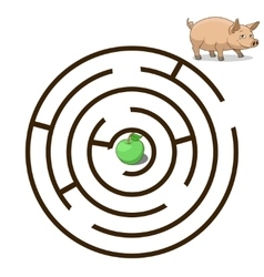 Game labyrinth find a way pig vector