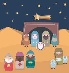 Nativity christian jesus vector