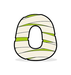 Letter o egyptian zombies mummy abc icon coiled vector