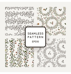 Set of seamless patterns of stylized vector