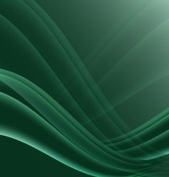 Green and black waves modern futuristic abstract vector