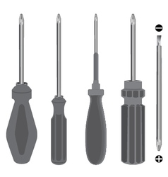 Screwdriver on a white background object tool vector