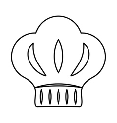 Chefs hat icon bakery design graphic vector
