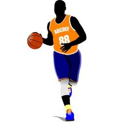 al 0815 basketball 01 vector image vector image