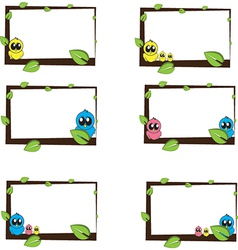 Birds Lables for school notebook vector image vector image