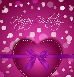 Birthday heart gift vector