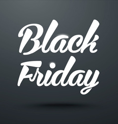 Black Friday Calligraphic Poster vector image vector image