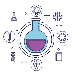 Brain storming set icons vector