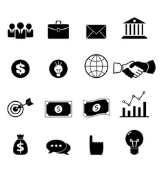 business set icons vector image