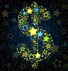 Dolar sign cartoon star colored vector