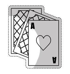 gambling game design vector image