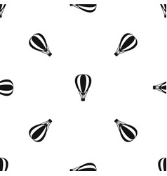 Hot air ballon pattern seamless black vector