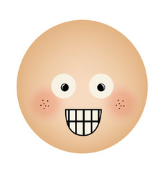 Human face emoticon surprised expression vector
