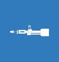 Icon machine gun bullet shot vector