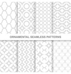 Ornamental seamless patterns vector image vector image