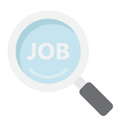 search job flat icon business and magnifying vector image vector image