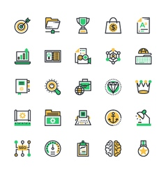 Seo and marketing colored icons 6 vector