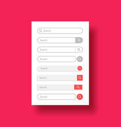 set design element for web or mobile user vector image
