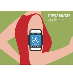 Sports or fitness tracking app for running people vector