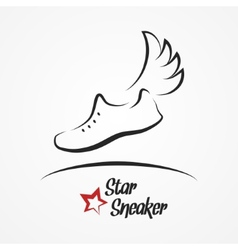 Star sneaker logo vector image vector image