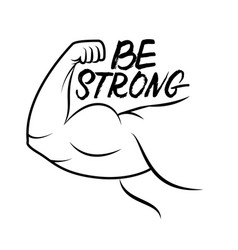 Strong arm icon vector