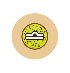 Stylish icon in color circle zodiac sign libra vector
