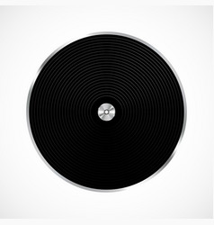 Vinyl record isolated vector