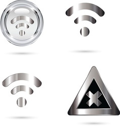 wifi grey resize vector image