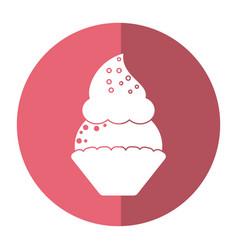 Women day cupcake dessert sweet shadow vector