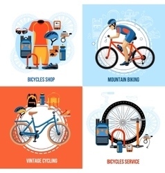 Biking 2x2 design concept vector