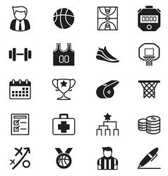 Basketball icons set vector image