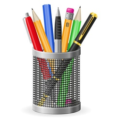 Set icons pen and pencil 02 vector