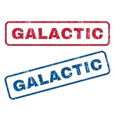 Galactic rubber stamps vector