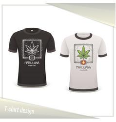 Medical marijuana tshirt seven vector
