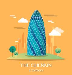 Famous london landmark the gherkin vector