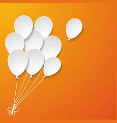 A bunch of white paper balloons vector
