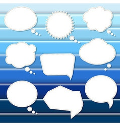 Abstract Blue Background With Speech Bubbles vector image