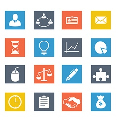 Bussiness icons vector image