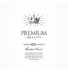 Vintage premium label vector