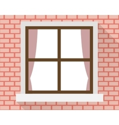 Window on the wall vector image