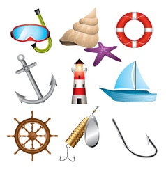 Sea related icons vector