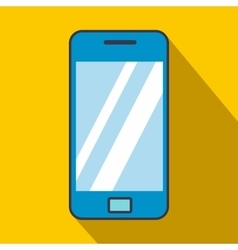 Blue smartphone flat icon vector