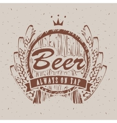 barrels of beer vector image