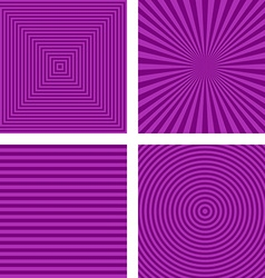 Simple purple striped pattern background set vector