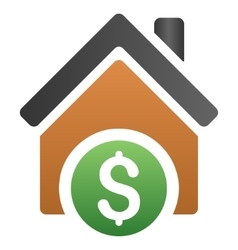 Home rent gradient icon vector