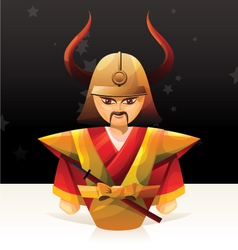 Samurai doll vector